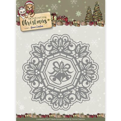 Find It Yvonne Creations Celebrating Christmas Die Jingle Bells Circle Frame - YCD10113