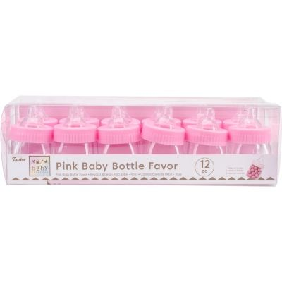 Party Favors 12/Pkg Pink Baby Bottles - 1406-064