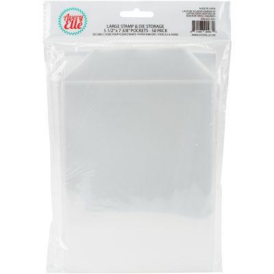 Avery Elle Stamp & Die Storage Pockets 50/Pkg Large 5.5