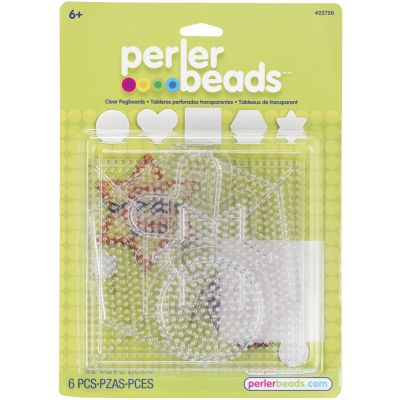 Perler Pegboards 5/Pkg Assorted Clear Shapes - 22750