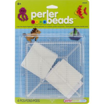 Perler Pegboards 2/Pkg Large Square Clear - 22613