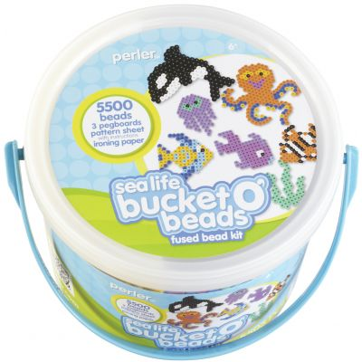 Perler Fused Bead Bucket Kit Sea Life - 80-42859
