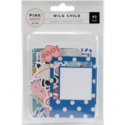 Wild Child Ephemera Cardstock Die Cuts 40/Pkg Girl W/Teal Foil - 310594
