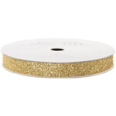 American Crafts Glitter Paper Tape 3Yd Brown Sugar .375