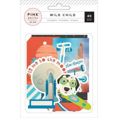 Wild Child Ephemera Cardstock Die Cuts 40/Pkg Boy W/Orange Foil - 310588