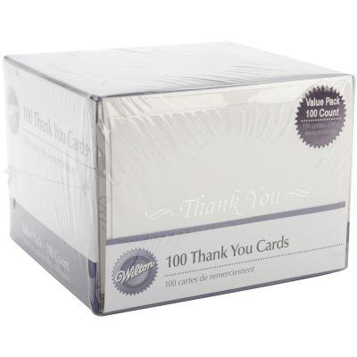 Thank You Cards & Envelopes 100/Pkg  - W8151