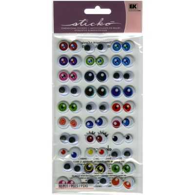 Sticko Dimensional Stickers Googly Eyes - E5240075
