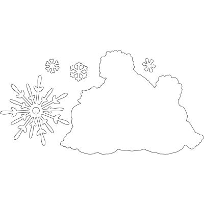 Penny Black Creative Dies Snow Family Cut Out - 51395
