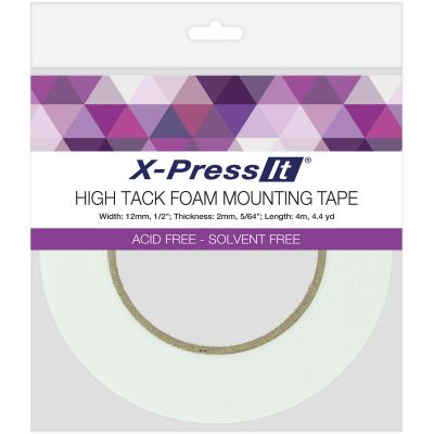 X Press It High Tack Foam Mounting Tape .5