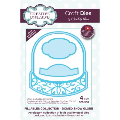 Creative Expressions Craft Dies By Sue Wilson Fillables Dome Snow Globe - CED21012