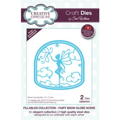 Creative Expressions Craft Dies By Sue Wilson Fillables Fairy Snow Globe Scene - CED21013