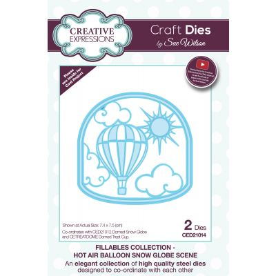 Creative Expressions Craft Dies By Sue Wilson Fillables Hot Air Balloon Snow Globe - CED21014