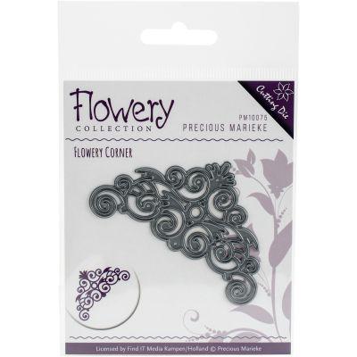 Find It Trading Precious Marieke Flowery Die Swirl Corner - PM10075