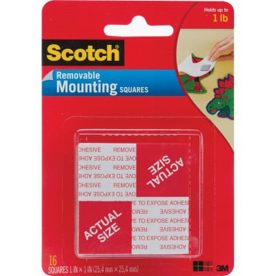Scotch Mounting Squares Removable 1