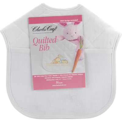 Charles Craft Quilted Baby Bib 14 Count 9