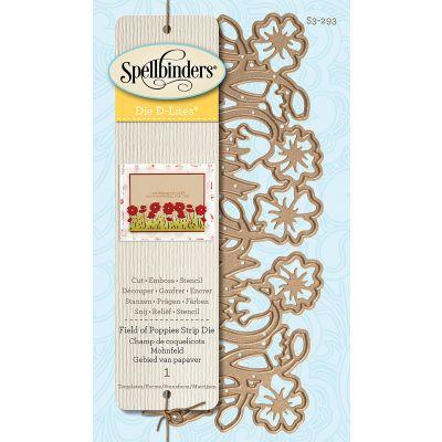 Spellbinders Shapeabilities Die D Lites Field Of Poppies - S3293