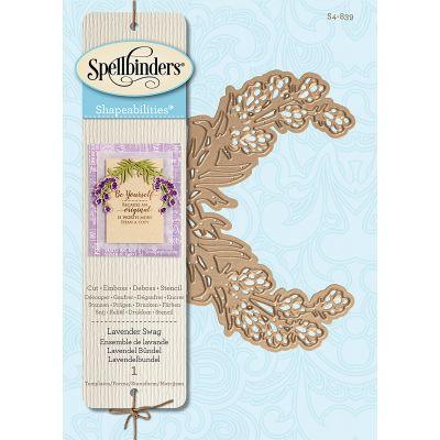 Spellbinders Shapeabilities Dies Lavender Swag - S4839