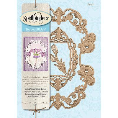 Spellbinders Shapeabilities Dies Eau De Lavande Label - S5321