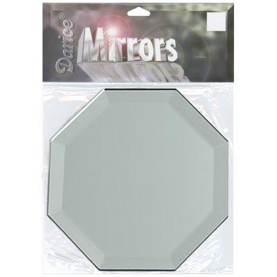 Octagon Glass Mirror W/Bevel Edge 1/Pkg 5