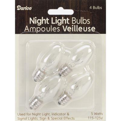 Night Light Bulbs 4/Pkg 5W - 6201-09