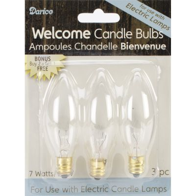 Electric Candle Bulbs 3/Pkg 7W - 6201-10