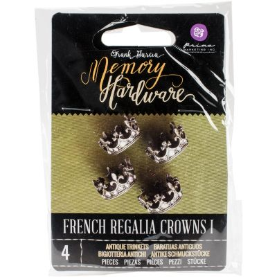 Prima Frank Garcia Memory Hardware Embellishments French Regalia Crowns I - 992941