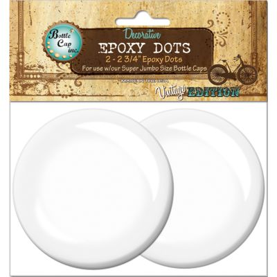 Vintage Epoxy Dot Clear Stickers 2.75