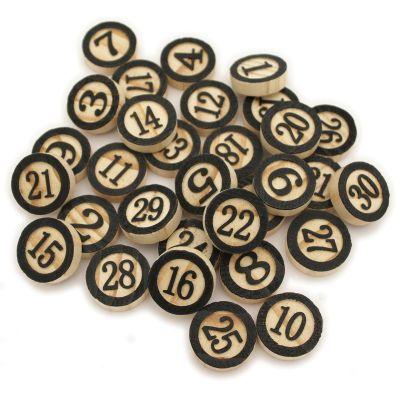 Wood Bingo Tiles 1