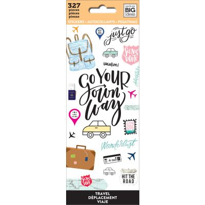 Me & My Big Ideas Stickers Travel, 327/Pkg - PPSM-01