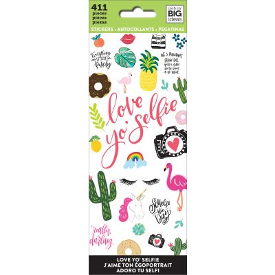 Me & My Big Ideas Stickers Love Yo Selfie, 411/Pkg - PPSM-04
