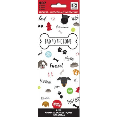 Me & My Big Ideas Stickers Bad To The Bone, 407/Pkg - PPSM-08