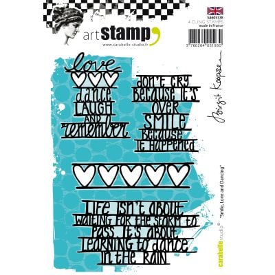 Carabelle Studio Cling Stamp A6 By Birgit Koopsen Smile, Love & Dancing - SA60333E