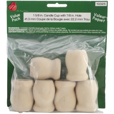 Wood Turning Shapes Value Pack Candle Cup 1.625