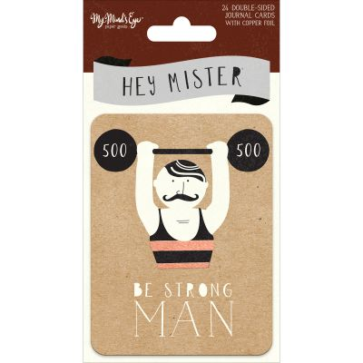 Hey Mister Double Sided Journal Cards 24/Pkg 3