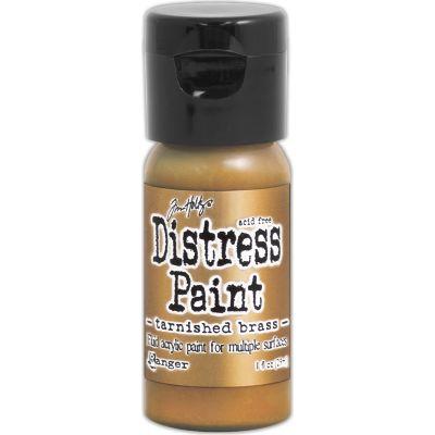 Tim Holtz Distress Paint Flip Top 1Oz Tarnished Brass - TDF-50643