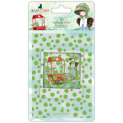 Santoro Kori Kumi A6 Embossing Folder An Apple A Day - SKKEBOS1