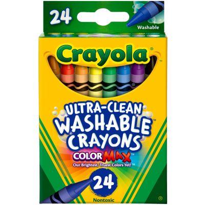 Crayola Washable Crayons 24/Pkg - 52-6924