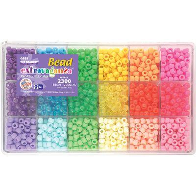Bead Extravaganza Bead Box Kit 19.75Oz Pastel & Jelly - B6488