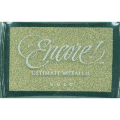 Encore Ultimate Metallic Ink Pad Gold - UM-10