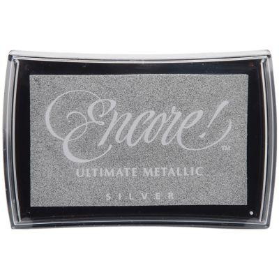 Encore Ultimate Metallic Ink Pad Silver - UM-12