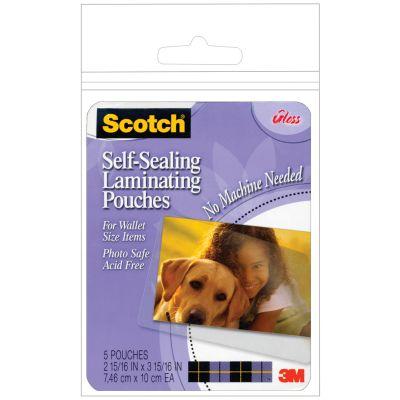 Scotch Self Sealing Laminating Pouches 5/Pkg 2