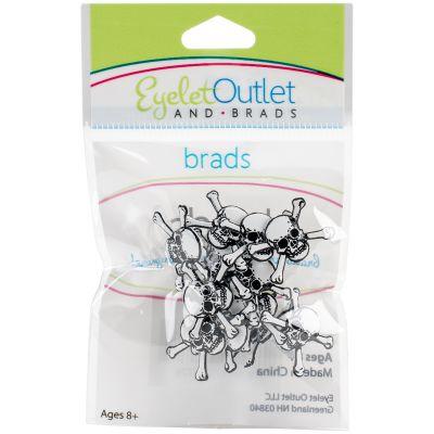 Eyelet Outlet Shape Brads 12/Pkg Skulls - QBRD2-152