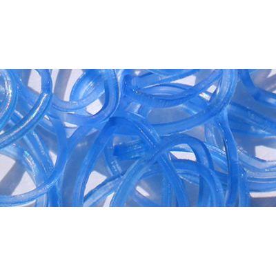 Uv Loom Bands 300/Pkg W/25 Clasps Blue - LB50-50697