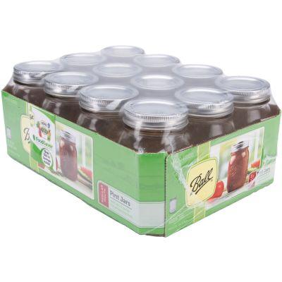 Ball(R) Regular Mouth Canning Jar 12/Pkg Pint, 16Oz - 61000