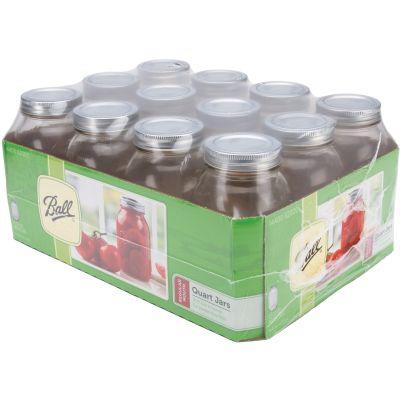Ball(R) Regular Mouth Canning Jar 12/Pkg Quart, 32Oz - 62000