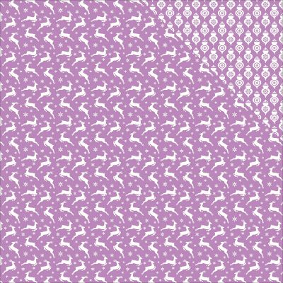 Scrapberry'S Elegantly Festive Double Sided Cardstock 12X12 Reindeer/Lustrous Lilac - 609808