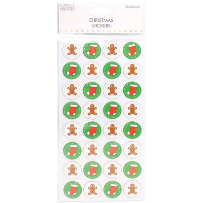 Trimcraft Simply Creative Christmas 3D Stickers Gingerbread Man - SCSTK086