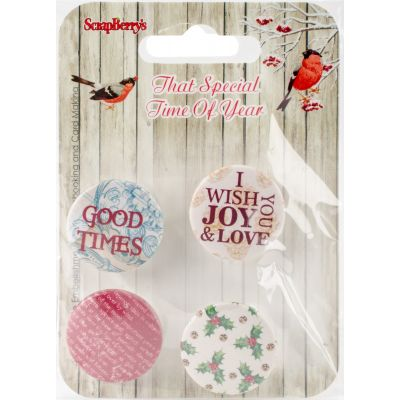Scrapberry'S That Special Time Of Year Embellishments 4/Pkg No.2 1 - SCB1014
