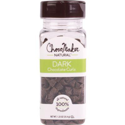 Chocomaker(R) Natural Dark Chocolate Curls 1.25Oz  - 9129CMN