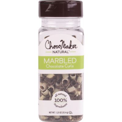 Chocomaker(R) Natural Marbled Chocolate Curls 1.25Oz  - 9141CMN